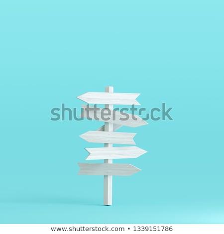 Wegwijzer twee vier zes acht keuze Stockfoto © Harlekino