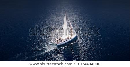 Zeilschip jacht middellandse zee zee berg zomer Stockfoto © Elisanth
