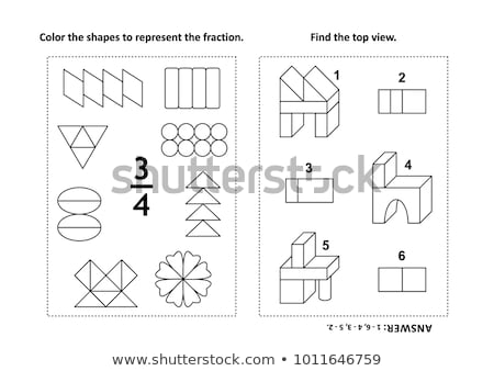 visual fractions educational math puzzle stock photo © ratselmeister
