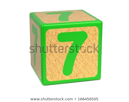 Number 7 - Childrens Alphabet Block. Stock photo © tashatuvango