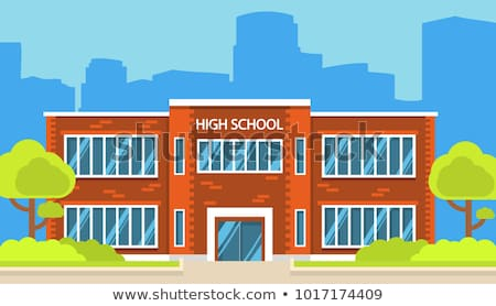 The School buildings in European style Stock photo © chatchai