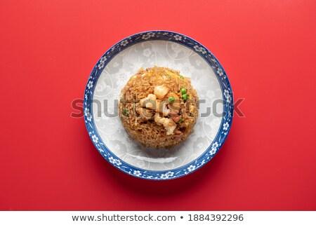 Sült rizs tengeri hal ázsiai konyha thai fűszeres Stock fotó © dariazu