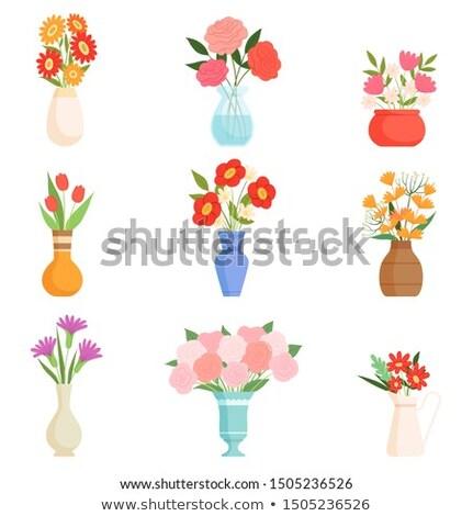 Primavera tulipas buquê vaso páscoa natureza Foto stock © Moravska