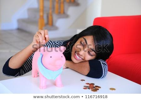 tienermeisje · munt · foto · vrouw · teen · financieren - stockfoto © dolgachov