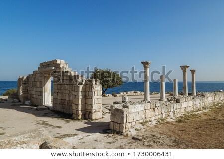 ruiny · zamek · budynku · charakter · morza · lata - zdjęcia stock © vapi