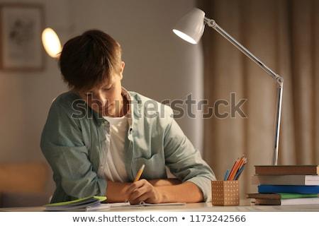 pensando · classe · estudante · educação · diversão - foto stock © meinzahn