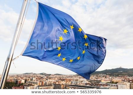 Catalan flag fluttering Stock photo © artjazz