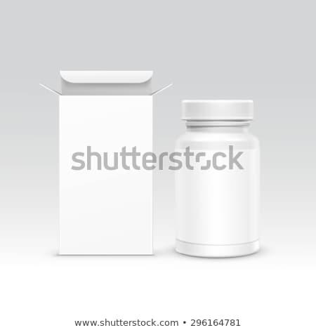 Branco médico garrafa ilustração fundo desenho Foto stock © bluering