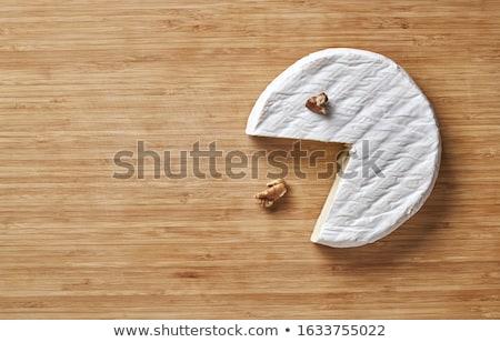 Camambert gıda peynir kahvaltı tahta büfe Stok fotoğraf © M-studio