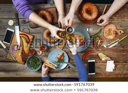 Food and drink Table, Enjoying Dinning Eating Concept Stock photo © Yatsenko