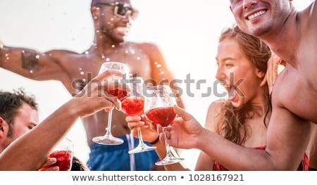 Felice giovani amici esclusivo barca party Foto d'archivio © DisobeyArt