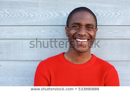 Portret jonge knap glimlachend vent Rood Stockfoto © Traimak