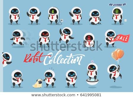 漫画 驚いた ロボット 見える 技術 ストックフォト © cthoman