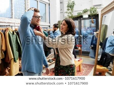 Para ubrania vintage odzież sklepu Zdjęcia stock © dolgachov