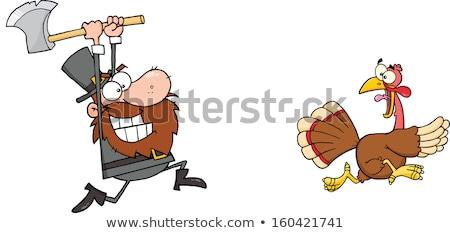 mérges · rajz · zarándok · illusztráció · néz · kalap - stock fotó © cthoman