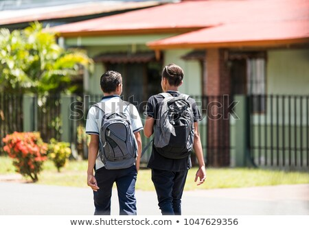 Costa Rica student wall on street and go to school Stock photo © Lopolo