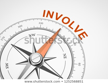 Compass on White Background, Involve Concept Stock photo © make
