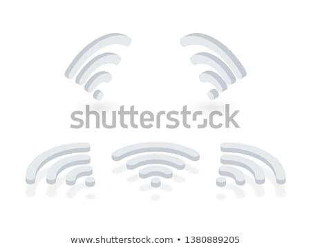 White Wi Fi sign 3D Stock photo © djmilic