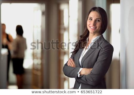 エレガントな 弁護士 小さな 眼鏡 ブラウン ネクタイ ストックフォト © pressmaster