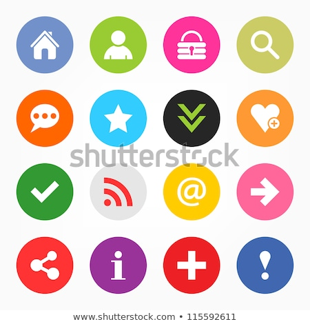 Stock photo: glass green star icon