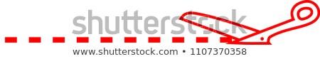 Witte schaar illustratie lijn business Stockfoto © Blue_daemon