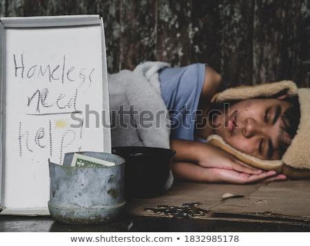 çocuk şehir sokak şehir sokak erkek stres Stok fotoğraf © Lopolo