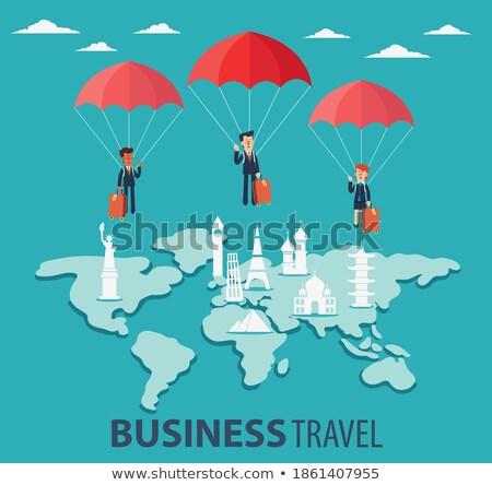 Internationale bedrijfsleven zakenman aarde vector poster tekst Stockfoto © robuart