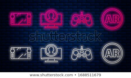 Gamepad Controller Symbol on the Wall Stock photo © make