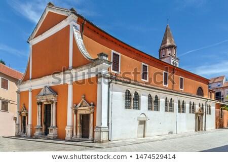 Igreja Croácia cedo cristão casas céu Foto stock © borisb17