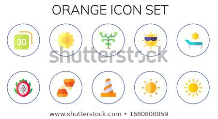 Simple vector sun drawing in flat style for summer graphic design Stock photo © Pravokrugulnik