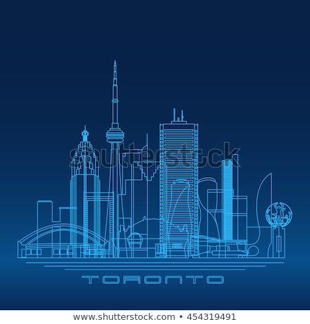 Торонто Skyline синий зданий Размышления Сток-фото © ShustrikS