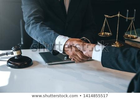 ügyvédek megbeszél szerződés megállapodás kezet fog jó Stock fotó © snowing