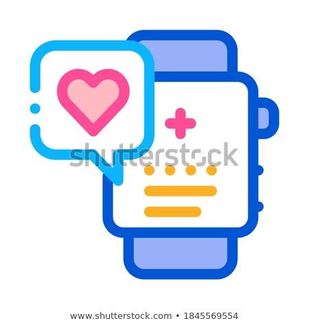 Trabajo corazón icono vector Foto stock © pikepicture