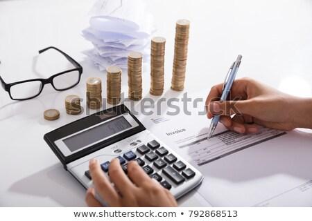 афроамериканец налоговых оплата инфляция калькулятор бизнеса Сток-фото © AndreyPopov