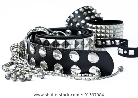 leather bracelet with spikes Stock photo © FOKA
