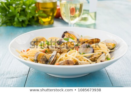 dish of spaghetti with clams Stock photo © Antonio-S