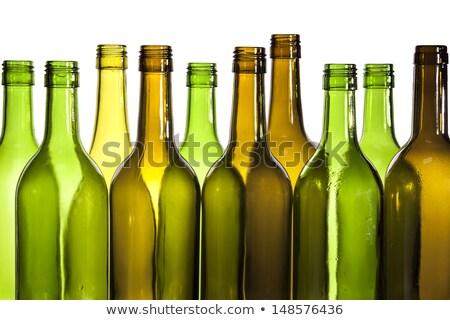 Boş şişe soyut arka plan yeşil Stok fotoğraf © beemanja
