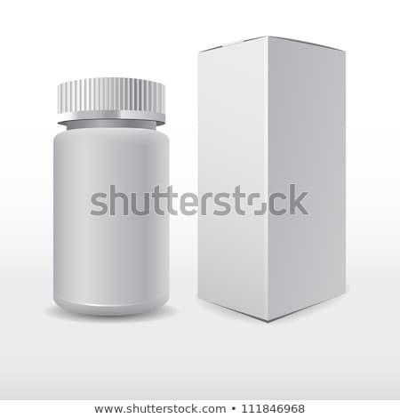 Isolado garrafas caixas medicina garrafa Foto stock © PilgrimArtworks