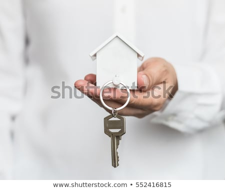 the house in the hand of a salesman Stock photo © pterwort