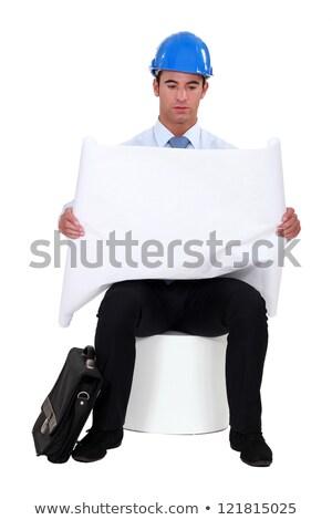 architect sitting looking downbeat stock photo © photography33