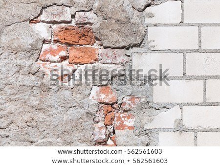 Wall with old dilapidated tiled Stock photo © pzaxe