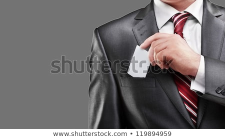 Man presenting businesscard Stock photo © photography33