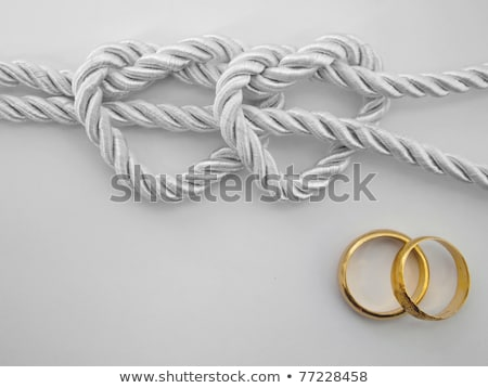 Tie The Knot With Wedding Rings Stock photo © albund