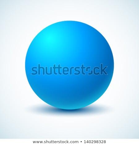 azul · esfera · aislado · blanco · diseno - foto stock © lenapix