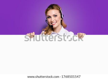 customer service blonde Stock photo © dolgachov