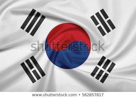 Fabric texture of the flag of South Korea Stock photo © maxmitzu