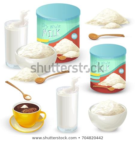 Fincan çay mandıra süt toz kahve Stok fotoğraf © ziprashantzi
