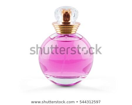 pink bottle of perfume isolated on white Stock photo © shutswis