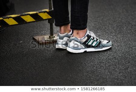 Stivali coppia nuovo pelle scarpa vintage Foto d'archivio © jarp17