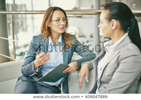 женщину вопросе деловое совещание конференц-зал деловые люди Сток-фото © wavebreak_media
